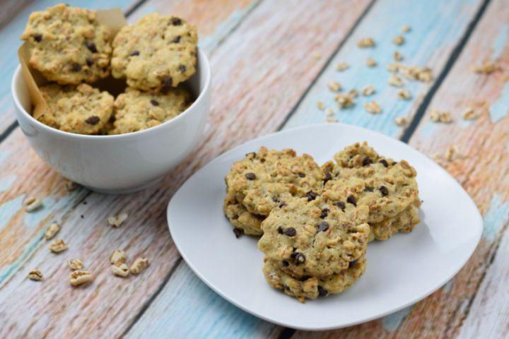 Biscotti vegani al farro soffiato e cioccolato - Vegan Cookies