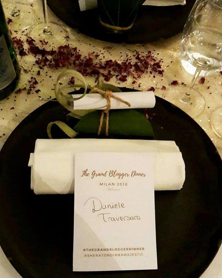 The Grand Blogger Dinner Milano 2018