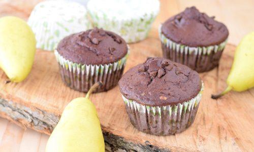 Muffin con Pere e Cioccolato