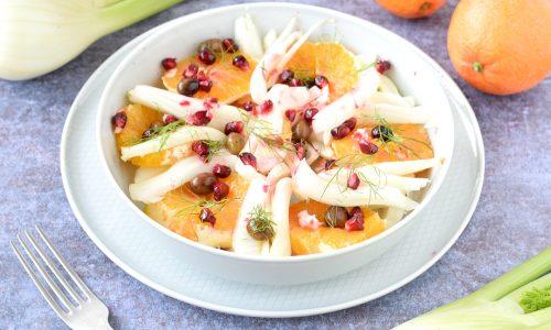 Insalata di finocchi arance e melagrana