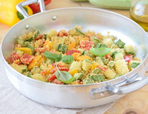 Peperoni e Zucchine sabbiosi in padella