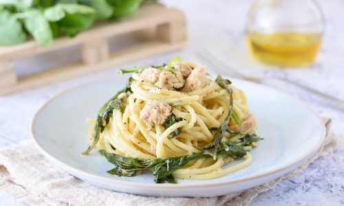 Spaghetti con Tonno e Rucola