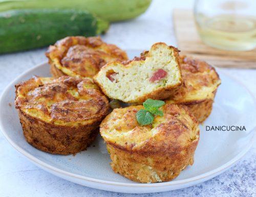 Muffin di Frittata alle Zucchine e Pancetta