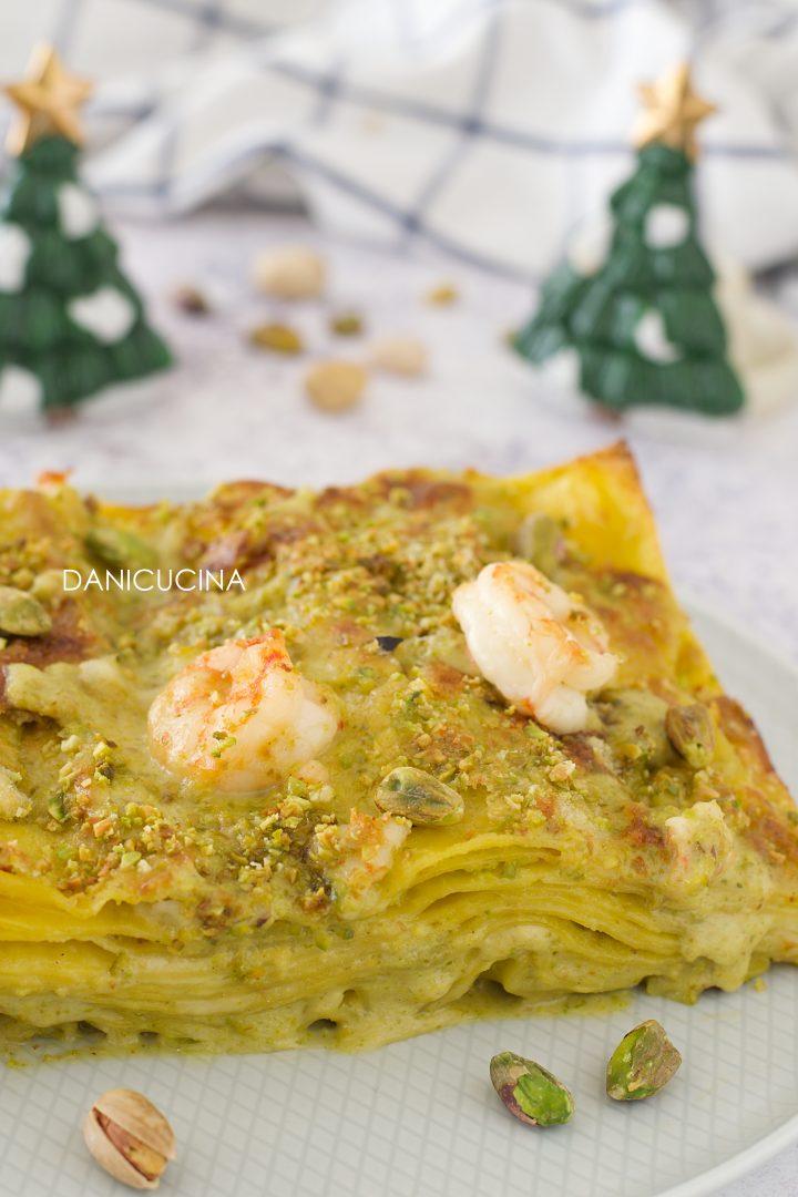 Lasagne al Pesto di Pistacchi e Gamberi
