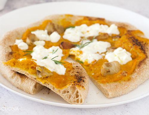 Pizza con Semola di Farro Integrale alla Zucca e Burrata