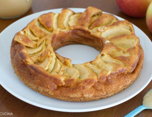 Torta di Mele Senza Zucchero con Purea di Mela (senza olio/burro)