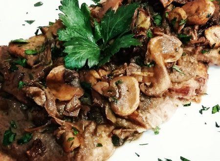 Girello di vitello con champignon e carciofi