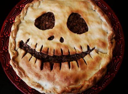 Torta salata di Jack O' Lantern, un secondo da paura