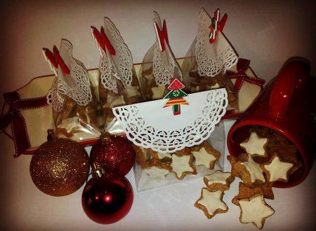 Zimsterne o stelle di cannella, biscottini natalizi