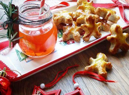 Aperitivo delle feste: gingerbread salati e spritz natalizio