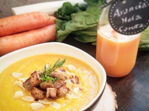 Vellutata detox di carote e finocchi
