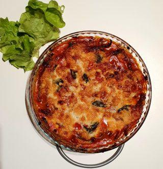 Parmigiana di fagiolini dopo la cottura