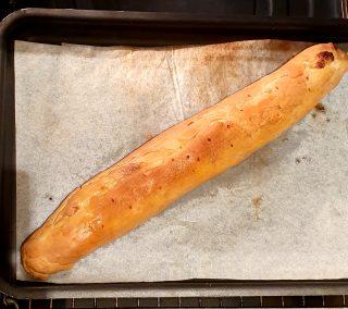 strudel alla crema con zeste di arancio cotto