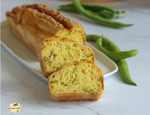 Fiadone plumcake di formaggio e fave