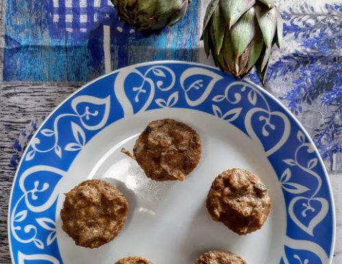 Muffin ai carciofi veloci