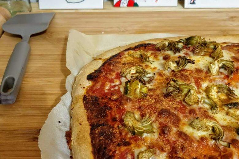 Pizza in teglia alta