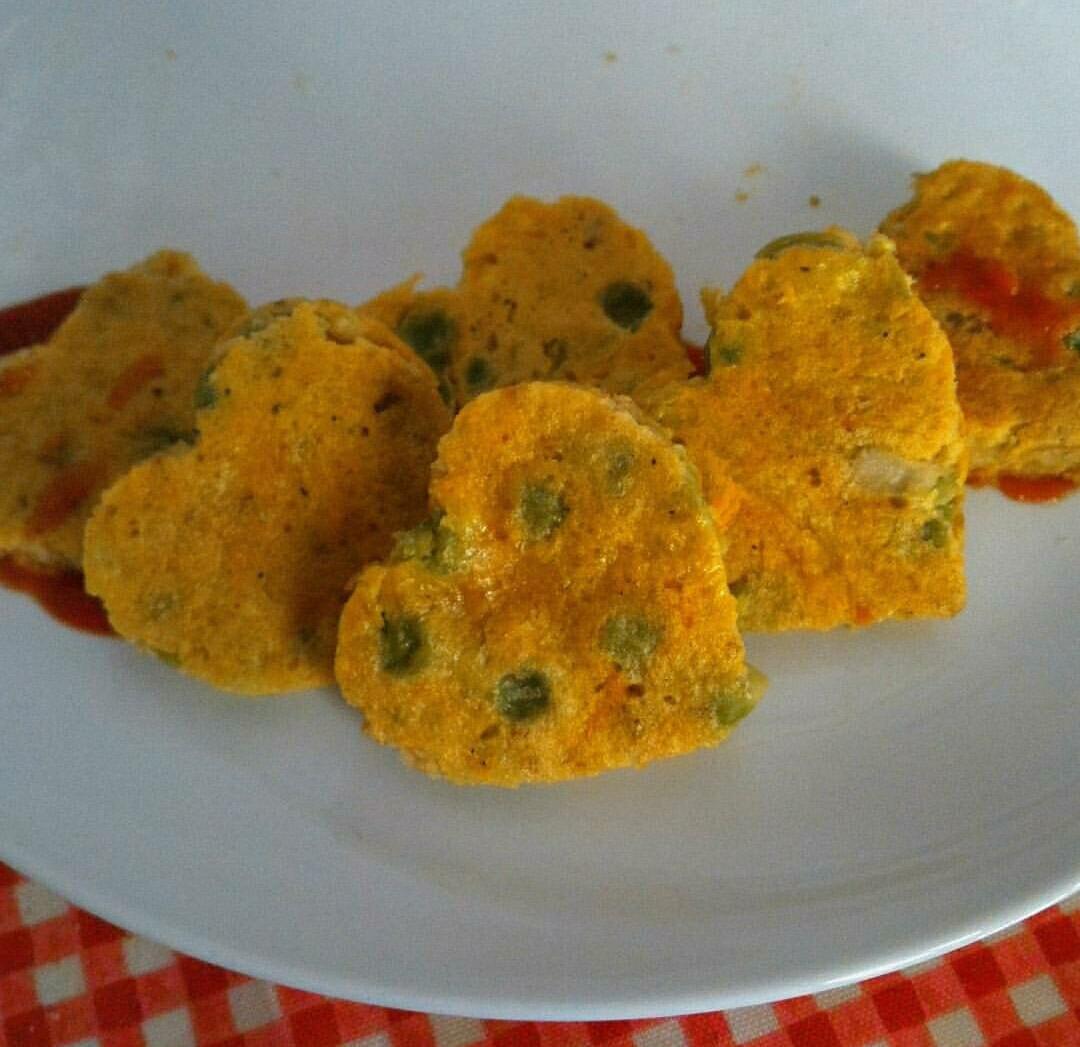 Frittata con piselli e carote
