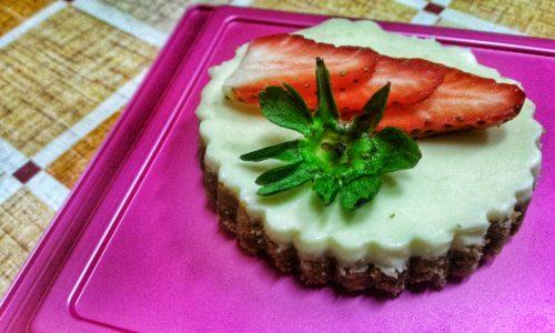 Cioccolato bianco e cocco: cheesecake monoporzione