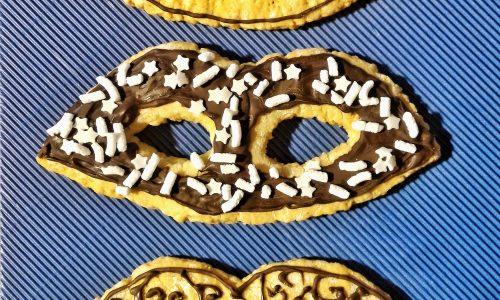 Mascherine di carnevale con cioccolato