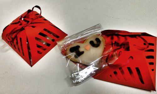 Biscotti decorati con pacco regalo