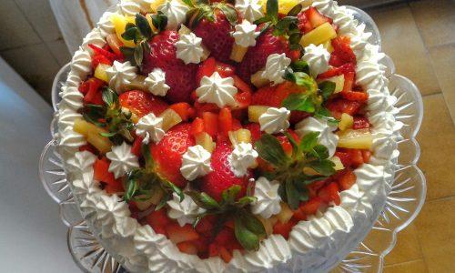 Fragole e panna, torta per la mamma
