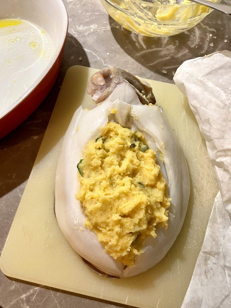 Seppie ripiene di patate