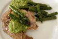 Sovracoscia di tacchino ricetta con salsa di asparagi