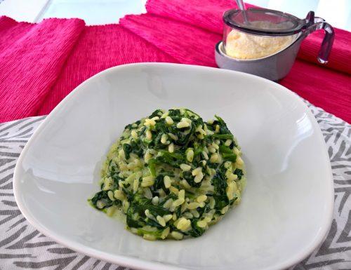 Risotto leggero agli spinaci cremoso
