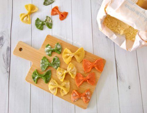 Farfalle tricolore – ricetta pasta fresca senza uova