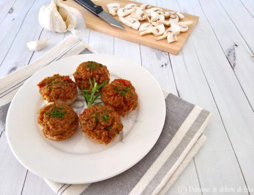 Funghi champignon ripieni – ricetta vegetariana