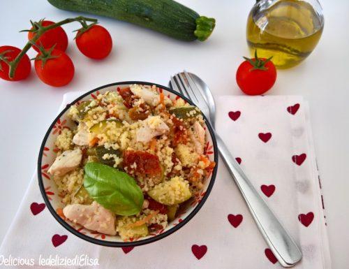 Cous cous di pollo e verdure all'aceto