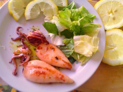 Calamari grigliati ricetta