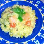 risotto zafferano e gamberetti