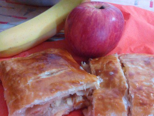 Strudel mele e cocco