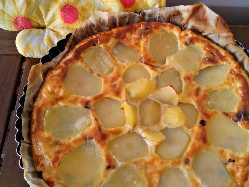 Sfogliata con patate e radicchio