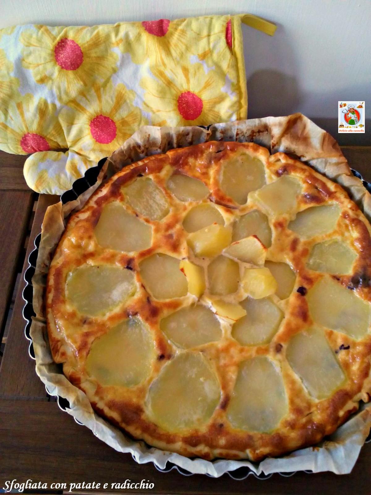sfogliata con patate e radicchio v1