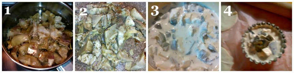 crostatine con carciofi e olive collage 1