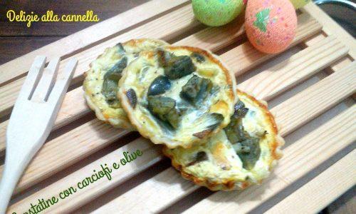 Crostatine con carciofi e olive