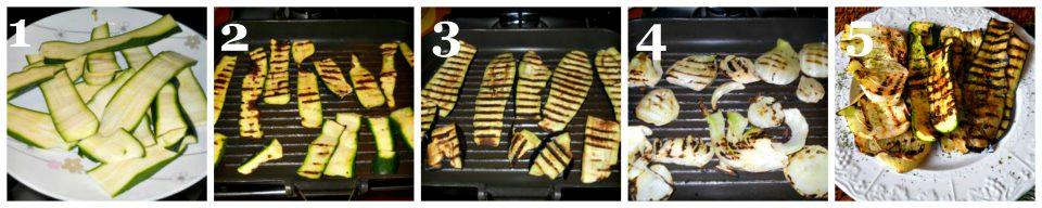 tris di verdure grigliate collage 1