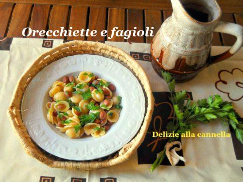 Orecchiette e fagioli ricetta veloce e leggera