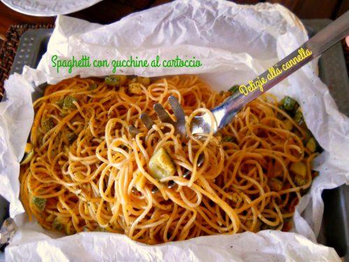 Spaghetti con zucchine al cartoccio