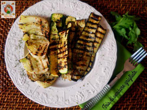 Tris di verdure grigliate