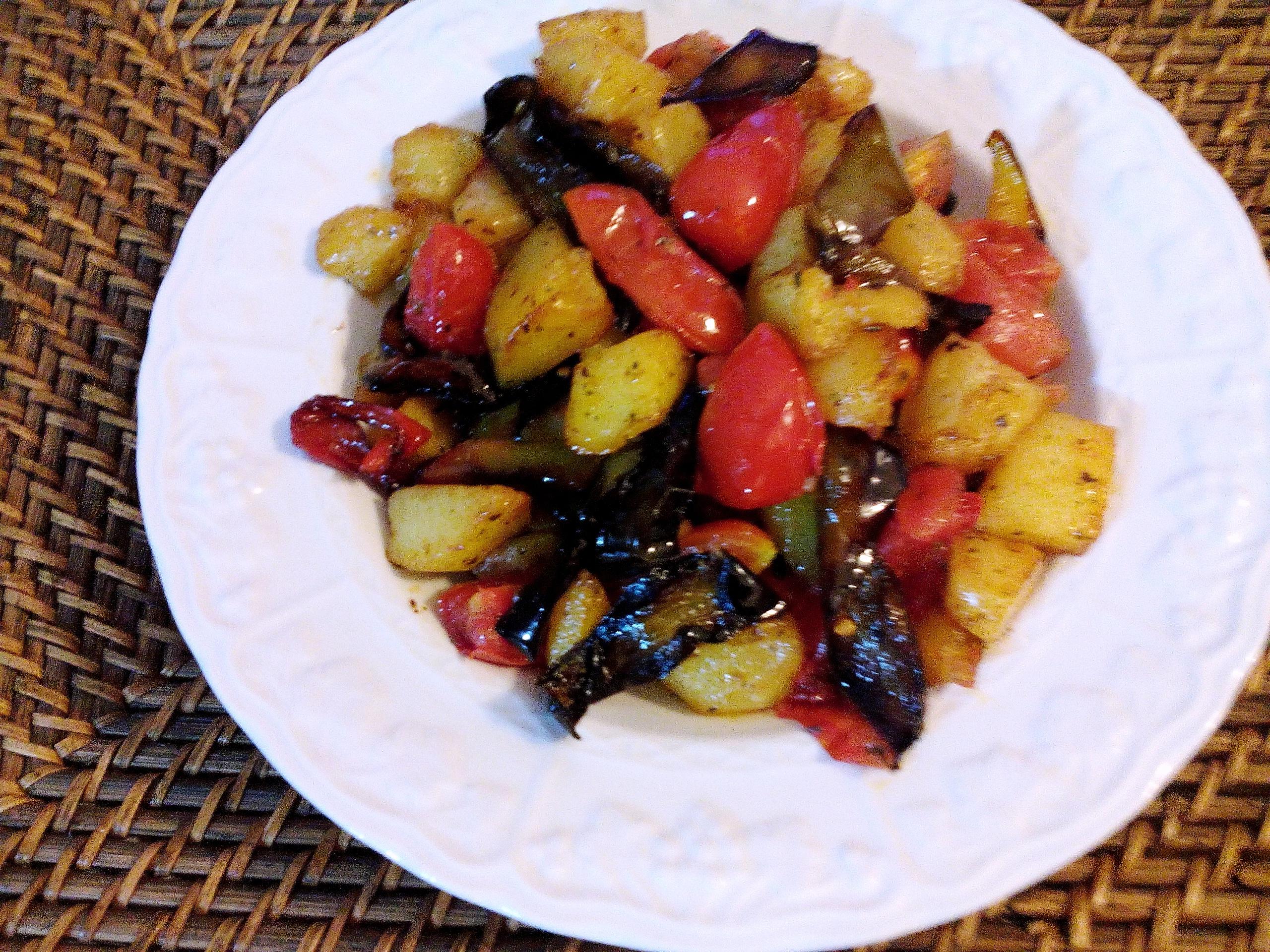 Peperoni e patate|Contorno appetitoso