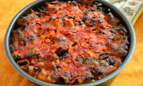 Paccheri con verdure al forno