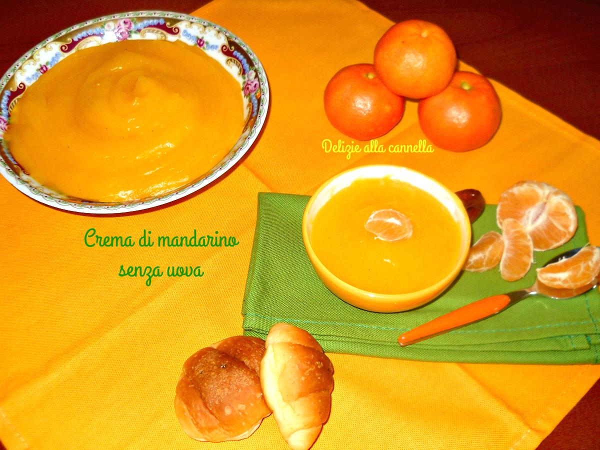 crema di mandarino senza uova