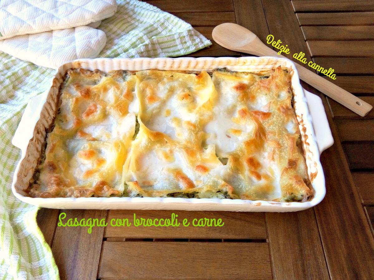 Ricetta Lasagna con broccoli e carne