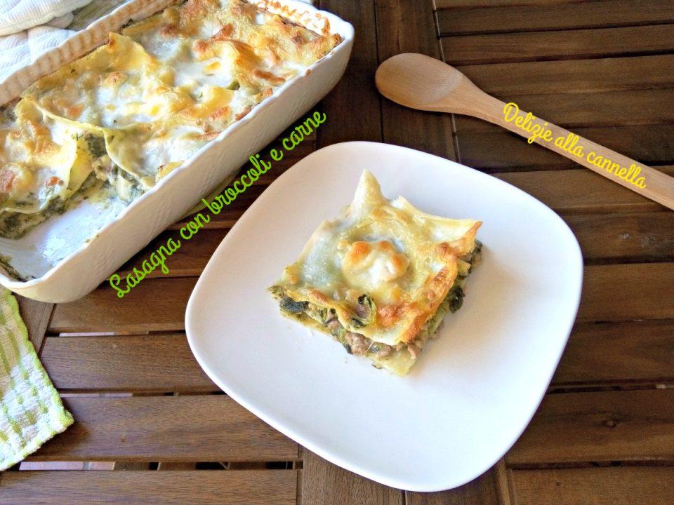 ricetta lasagna con broccoli e carne 2