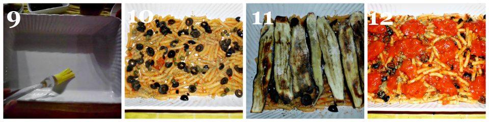 pasta al forno con melanzane e olive collage 3