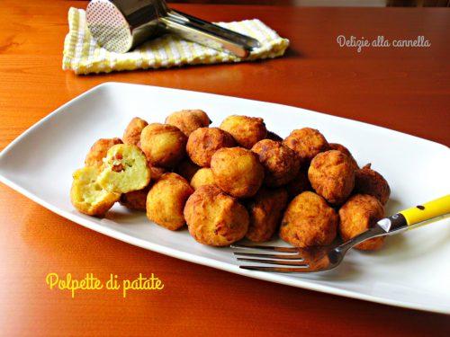 Polpette di patate ricetta sfiziosa