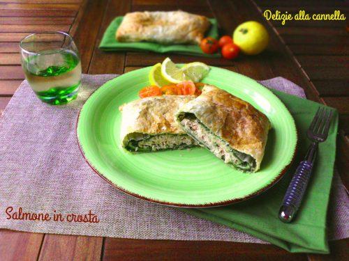 Salmone in crosta ricetta